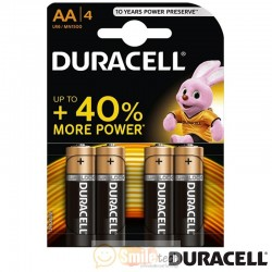 Pilhas AA/MN1500 LR6 Duracell. Pack 4 Unidades