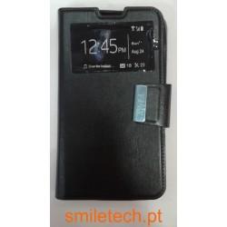 "Capa para Sony Xperia E4 ""Flipcover preta"""